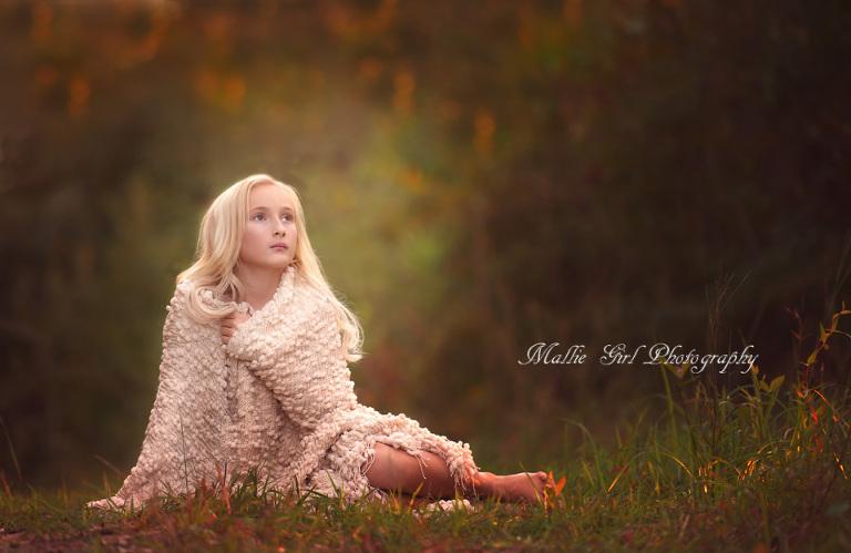 Fall Girl Blanket